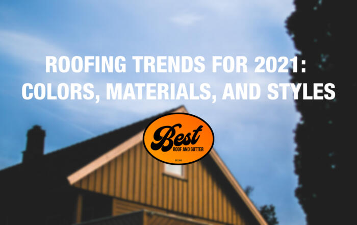 Roofing Trends For 2021: Colors, Materials, and Styles